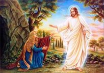 risen christ with mary